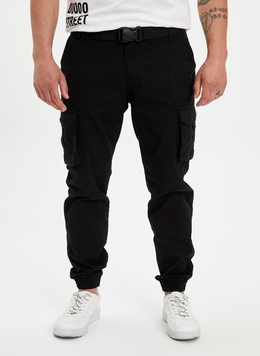 DeFacto Kargo Jogger Pantolon Siyah
